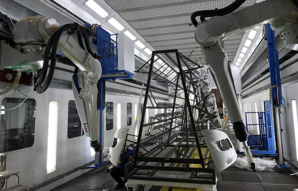 robotyzacja kabiny lakierniczej