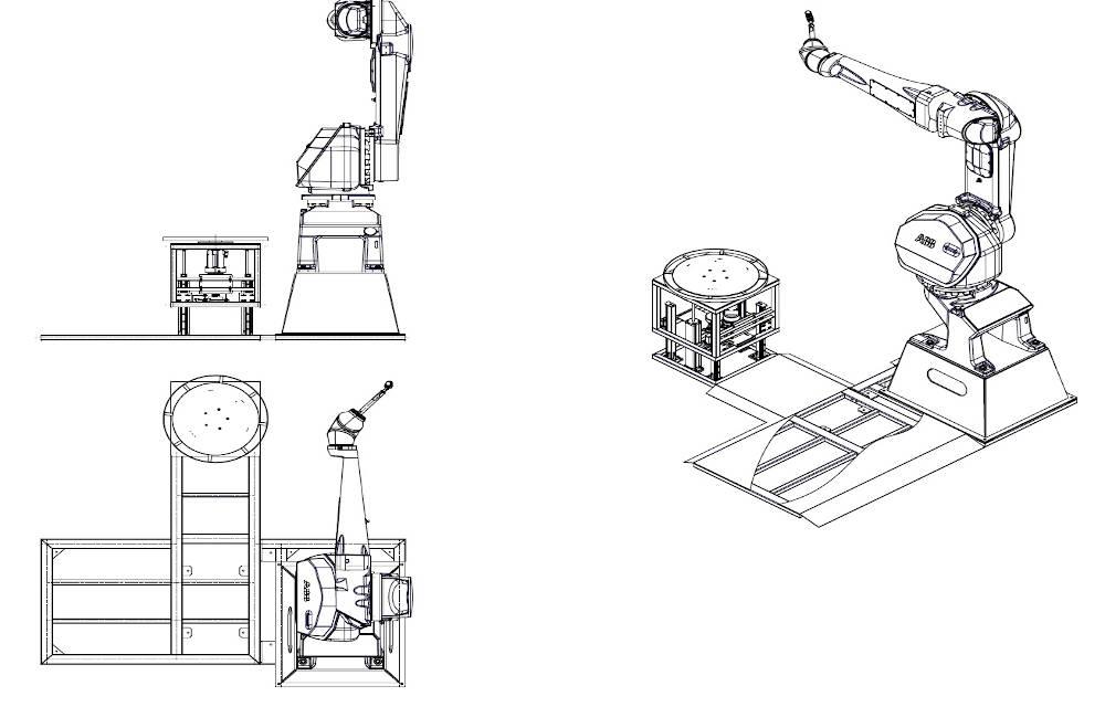 Zrobotyzowane stanowisko domalowania zapomocą robota ABB IRB 5510